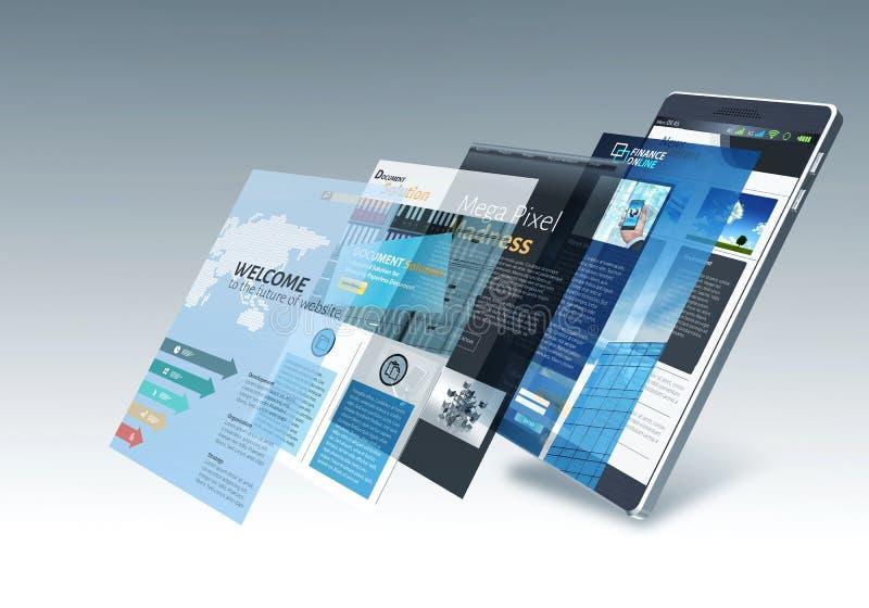 Internet on smart phone Concept vector illustration
