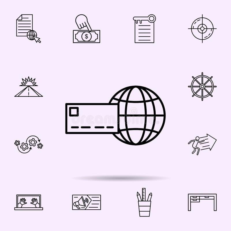 internet som får symbolen Universell upps?ttning av reng?ringsdukblandningen f?r websitedesignen och utveckling, apputveckling royaltyfri illustrationer
