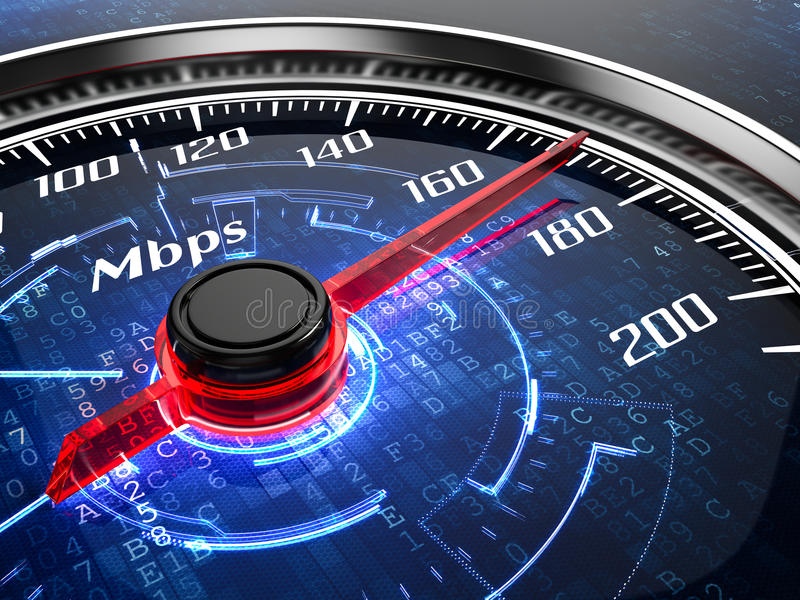 Internet speed. High speed internet connection concept stock illustration