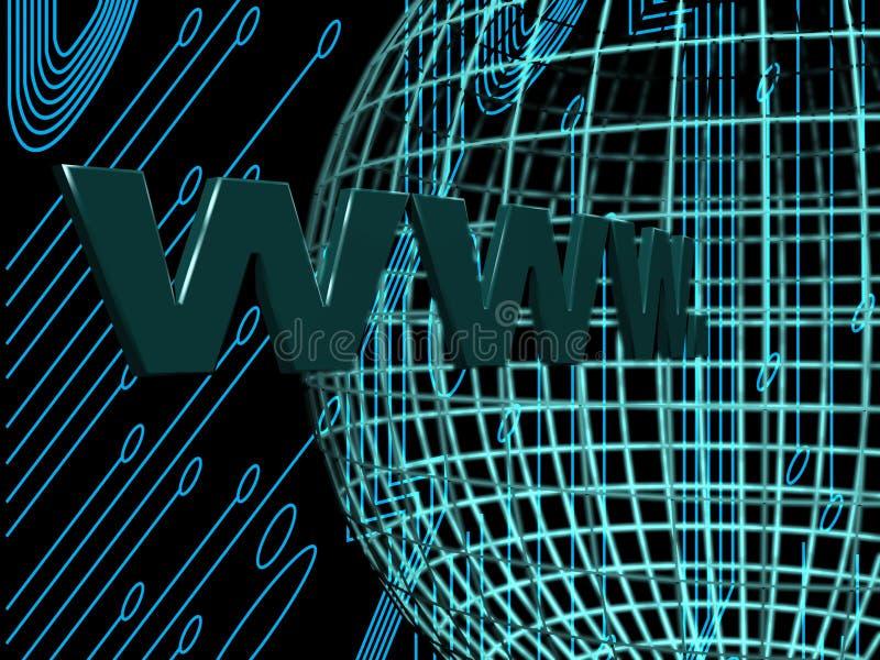Internet sul mondo illustrazione di stock