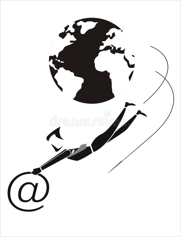 Download Internet 3 stock vector. Image of communications, transmissions - 31985572