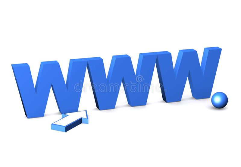 Internet symbol www. royalty free stock images