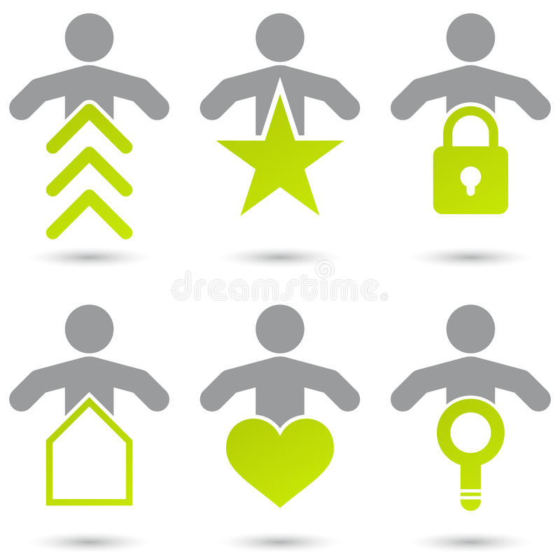 Internet-Symbole mit Leuten vektor abbildung