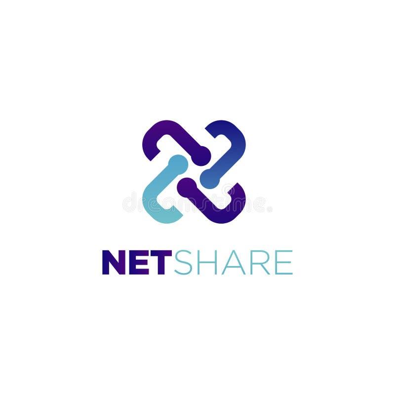 Internet-Technologie-Anteil Logo Symbol Icon stock abbildung