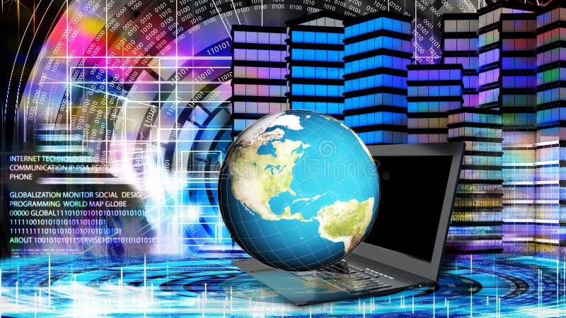 Internet Technologie de connexion de mondialisation image stock