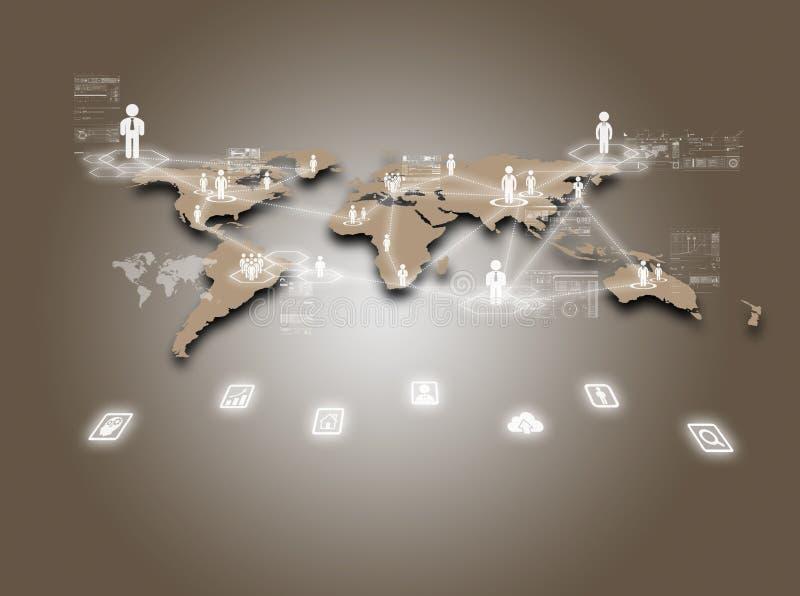 Internet-technologieconcept mondiale zaken of sociaal net royalty-vrije stock afbeeldingen