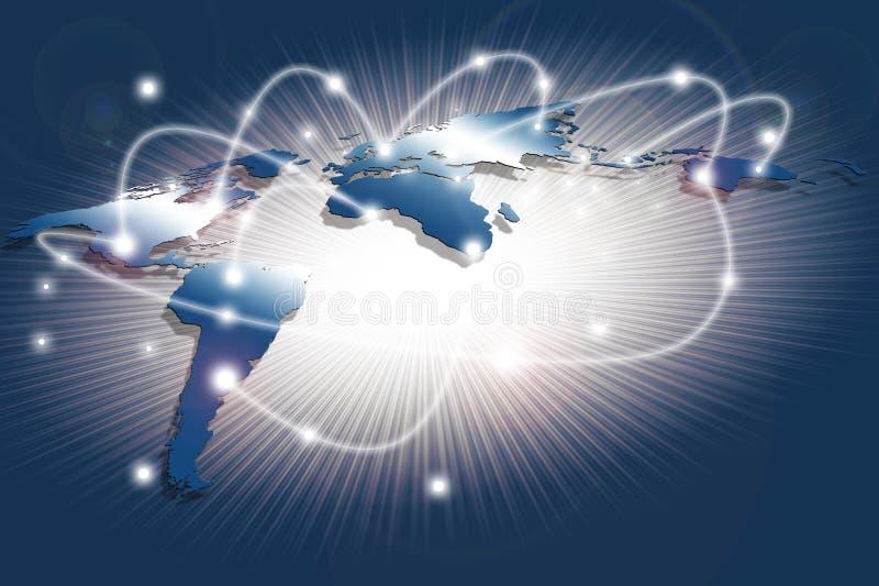 Internet-technologieconcept mondiale zaken of sociaal net stock foto