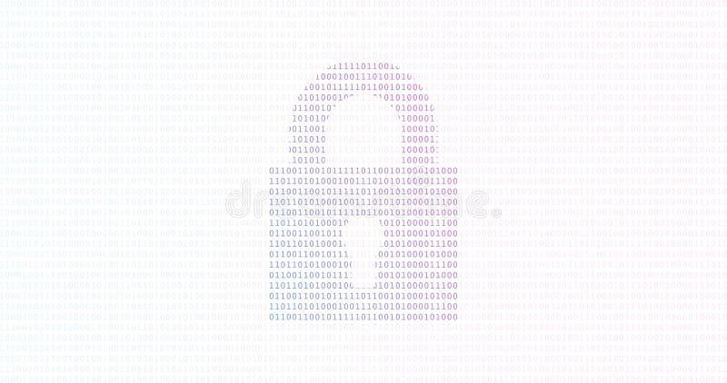 Internet-Technologieinternetsicherheits-Datenkonzept mit Binärstellen und bunten Hintergrund zuschließen vektor abbildung