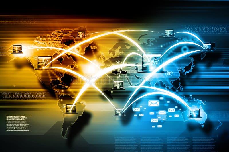 Internet technology. Or communication technology stock illustration