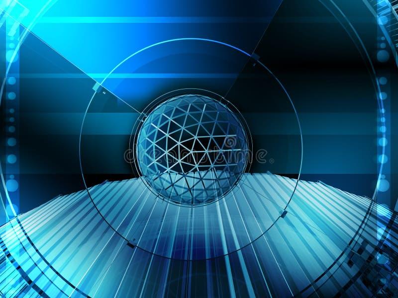 Internet technology communication. Stylish web-based image useful in many business composition royalty free illustration