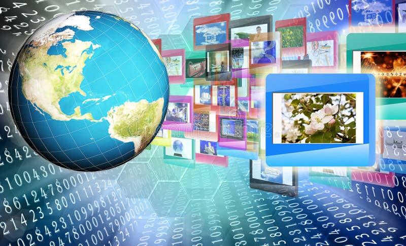 Internet technology.Globalization. Digital internet technology stock photography