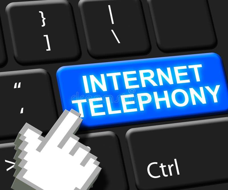 Internet-Telefonie-Schlüssel-Sprach-Breitband-Illustration 3d vektor abbildung