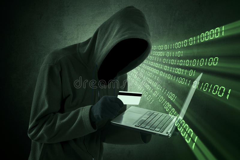 Internet Theft Concept royalty free stock photography