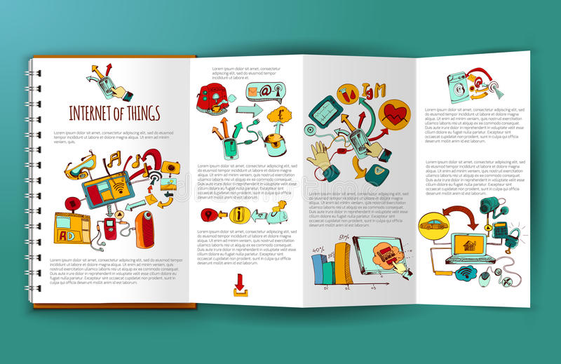 Internet Of Things Brochure royalty free illustration