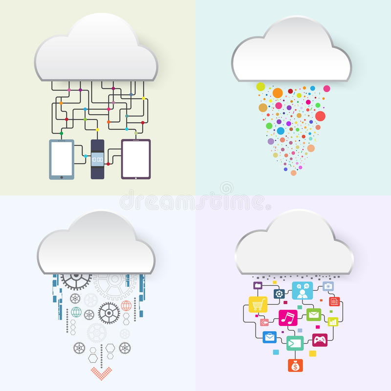 Internet of things. Business technology cloud concept, vector illustration royalty free illustration