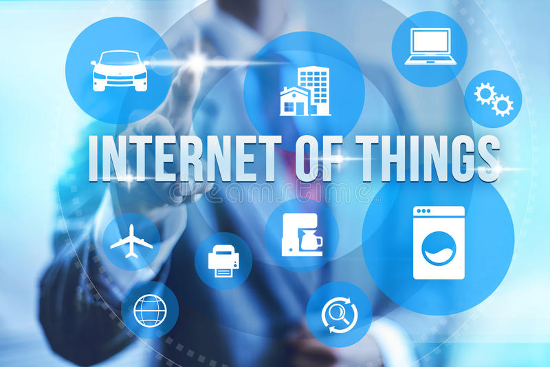 Internet of things concept. Future of internet UI concept of internet of things IOT