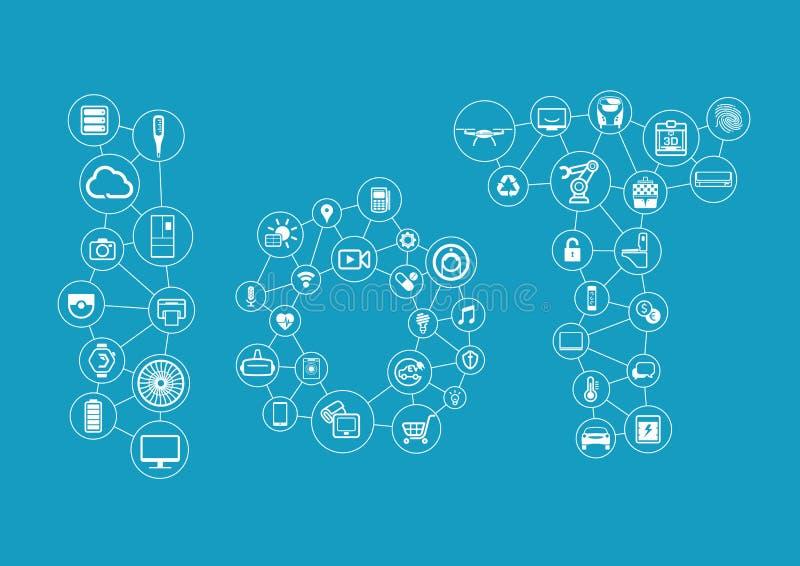 Internet of Things concept. Vector illustration stock illustration