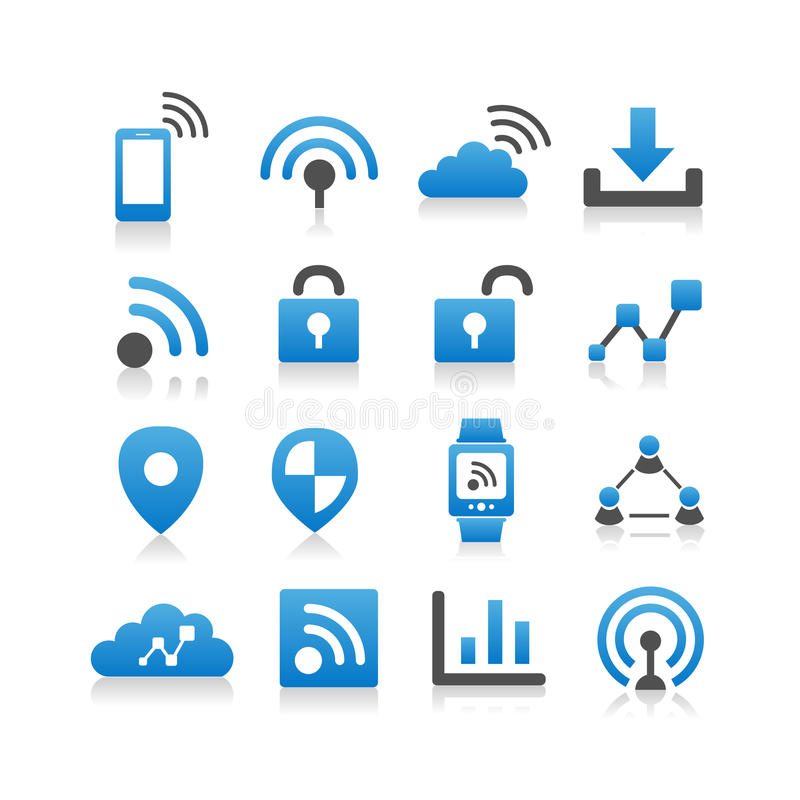 Internet of things icon. Set - Simplicity Series royalty free illustration