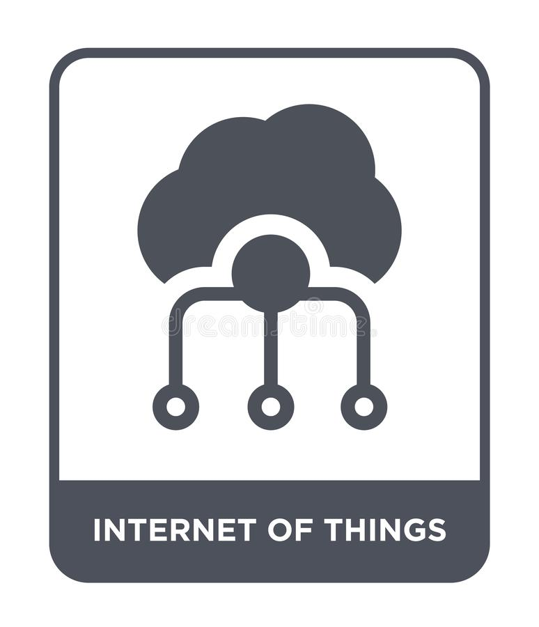 internet of things icon in trendy design style. internet of things icon isolated on white background. internet of things vector vector illustration