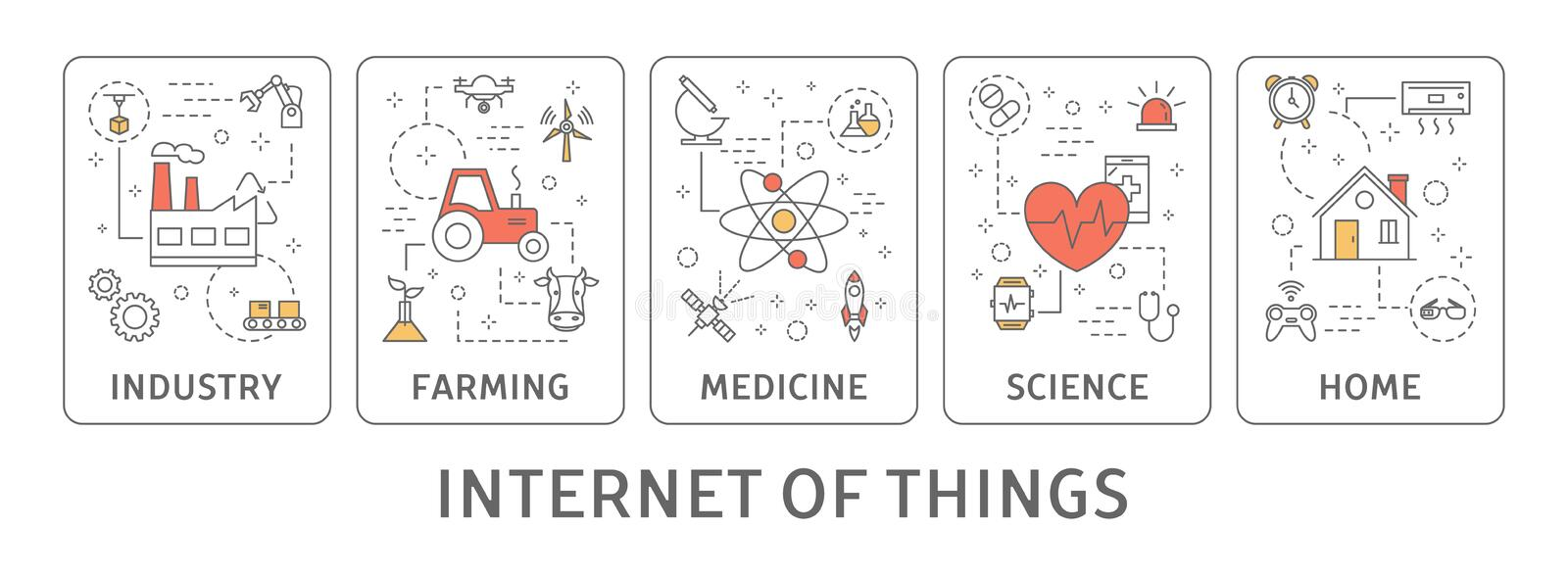 Internet of things. royalty free illustration