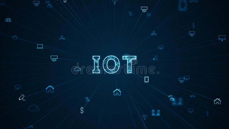 Internet Of Things IOT Concept royalty free illustration