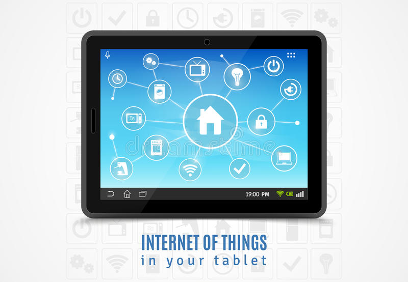 Internet Of Things Tablet vector illustration