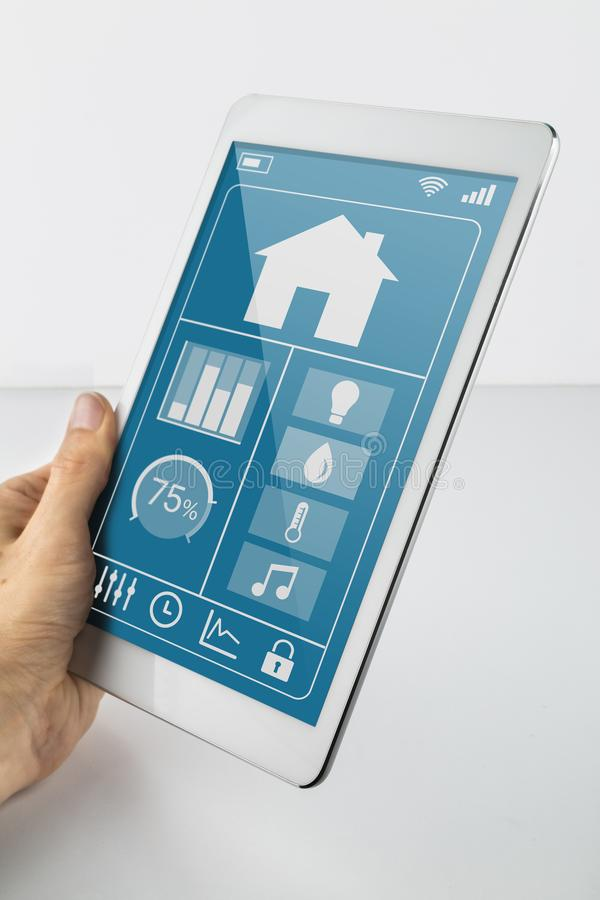 Internet of Things Tablet stock images