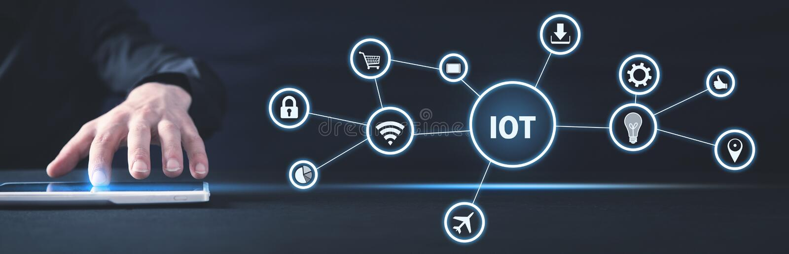 Internet Of Things. Internet, Technology, Business stock images