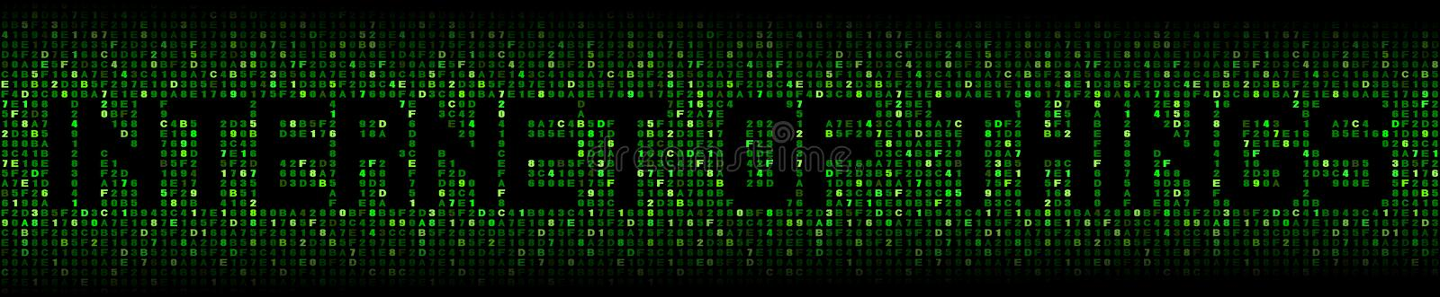 Internet of things text on hex illustration royalty free stock photos
