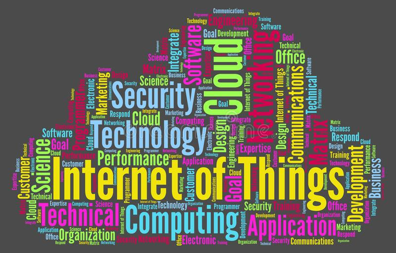 Internet of Things - Word cloud illustration royalty free illustration