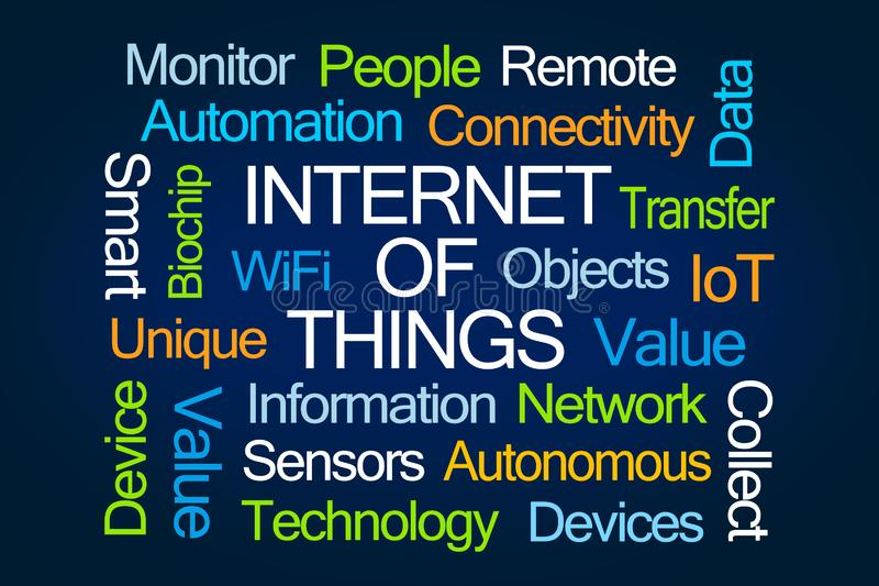 Internet of Things Word Cloud vector illustration