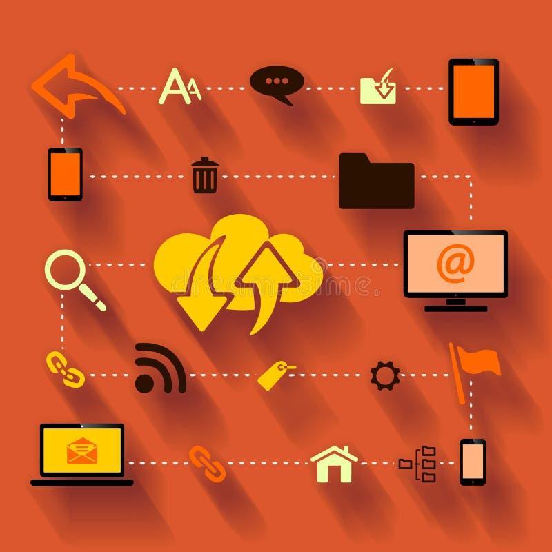 Internet. Traffic optimization abstract illustration vector illustration