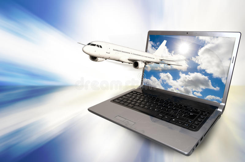 Internet and travel royalty free stock photo