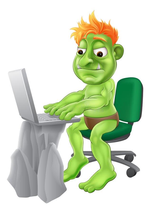 Internet troll concept royalty free illustration