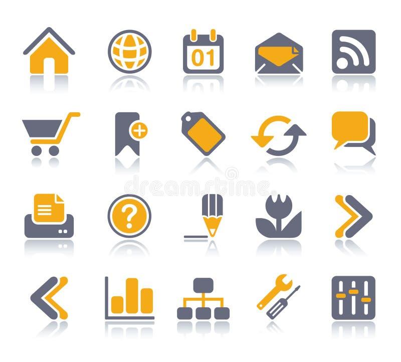 Internet- u. Web-Ikonenset | Vitaminserie lizenzfreie abbildung