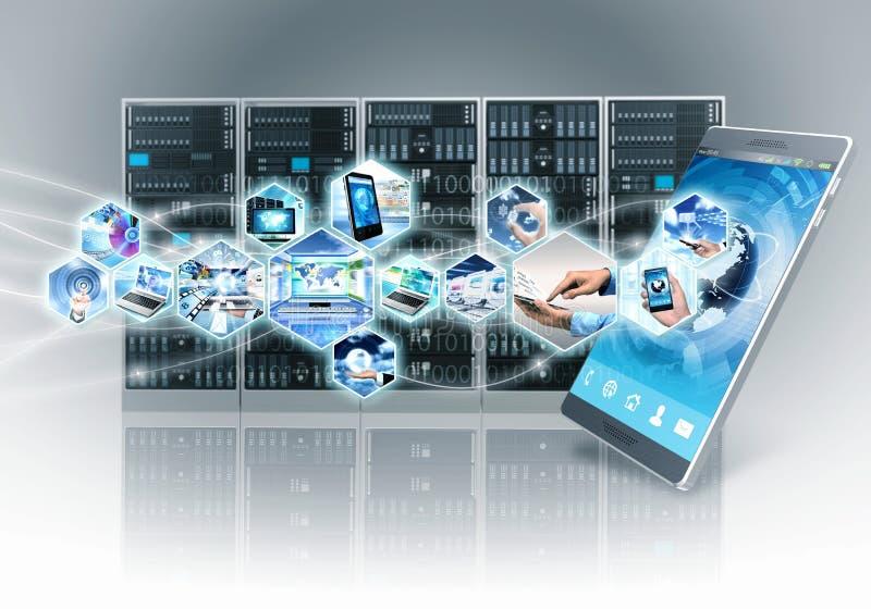 Internet und Informationstechnologie lizenzfreie abbildung