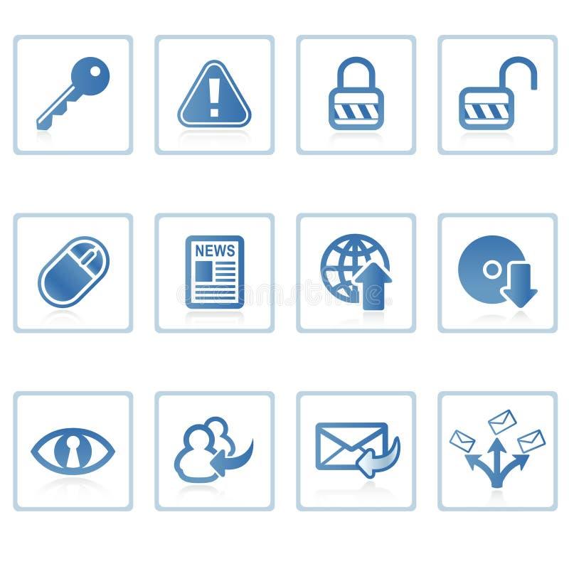 Internet- und Sicherheitsikone I lizenzfreie abbildung