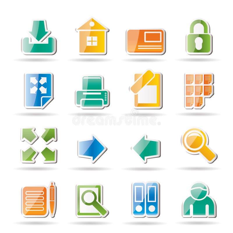 Internet-und site-Ikonen lizenzfreie abbildung