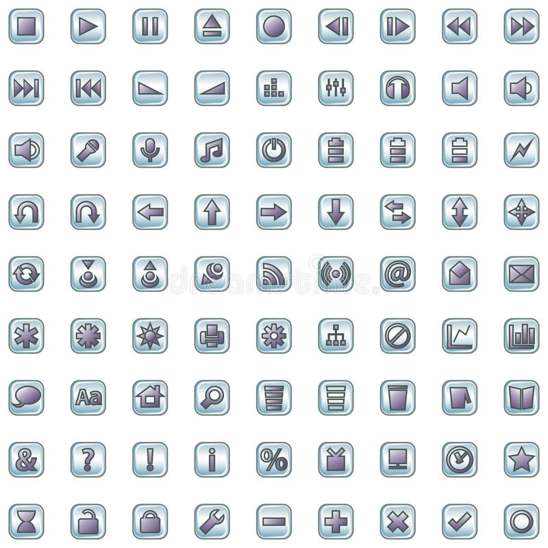 Internet- und siteikonen eingestellt vektor abbildung