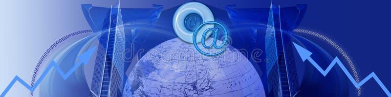 Internet und zunehmenerfolg lizenzfreie abbildung