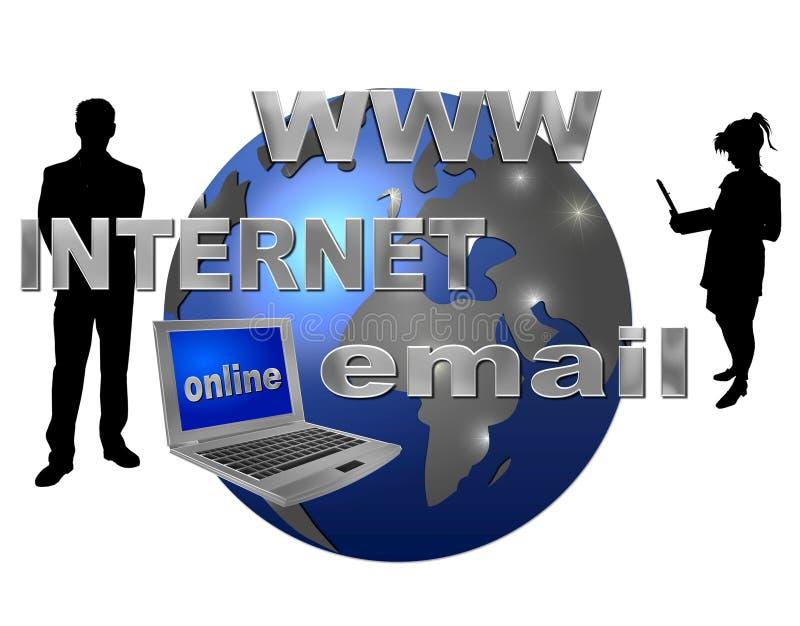 Internet universalmente royalty illustrazione gratis