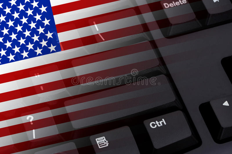 Internet in USA stock photography