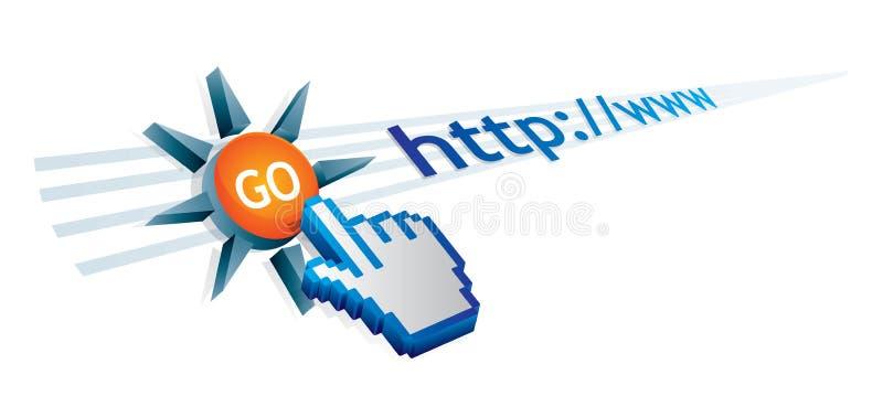 Internet utilization. Abstract illustration about internet utilization area royalty free illustration