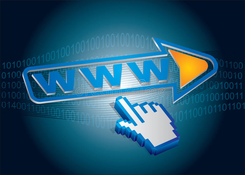 Internet utilization. Abstract illustration about internet utilization area vector illustration