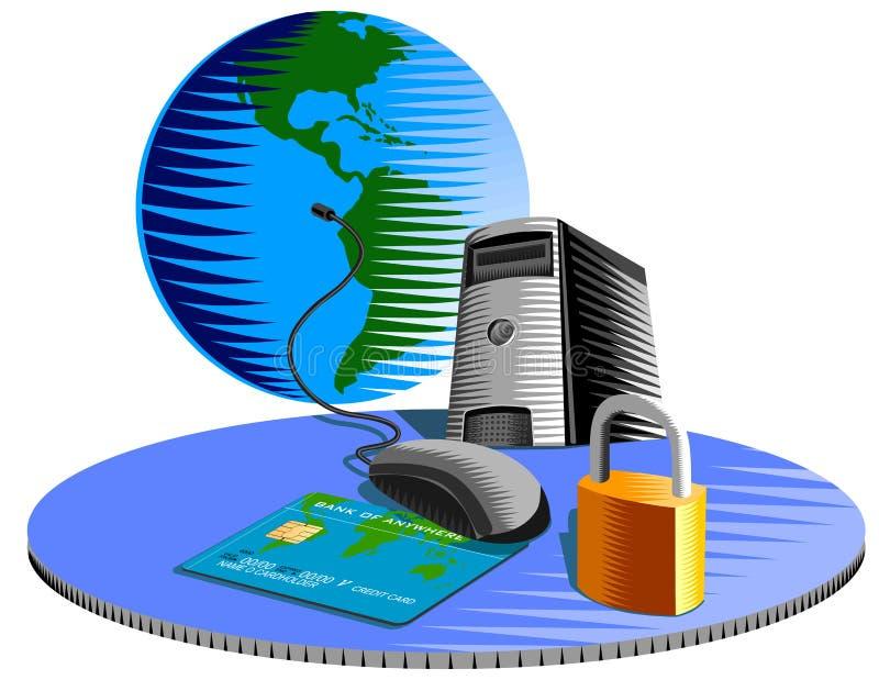 Internet van de computer veiligheid stock illustratie