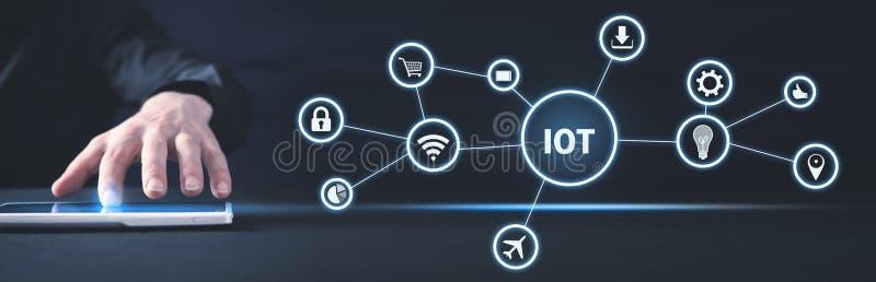 Internet van Dingen Internet, Technologie, Zaken stock afbeeldingen