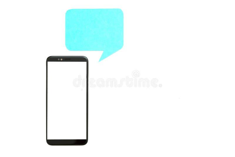 Internet-van het communicatie de witte achtergrond praatjepictogram stock afbeeldingen