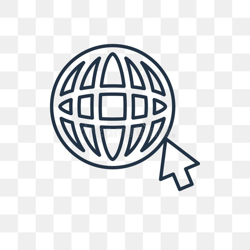 Internet Vector Icon Isolated On Transparent Background Linear Stock Vector Illustration Of World Communication 130111688