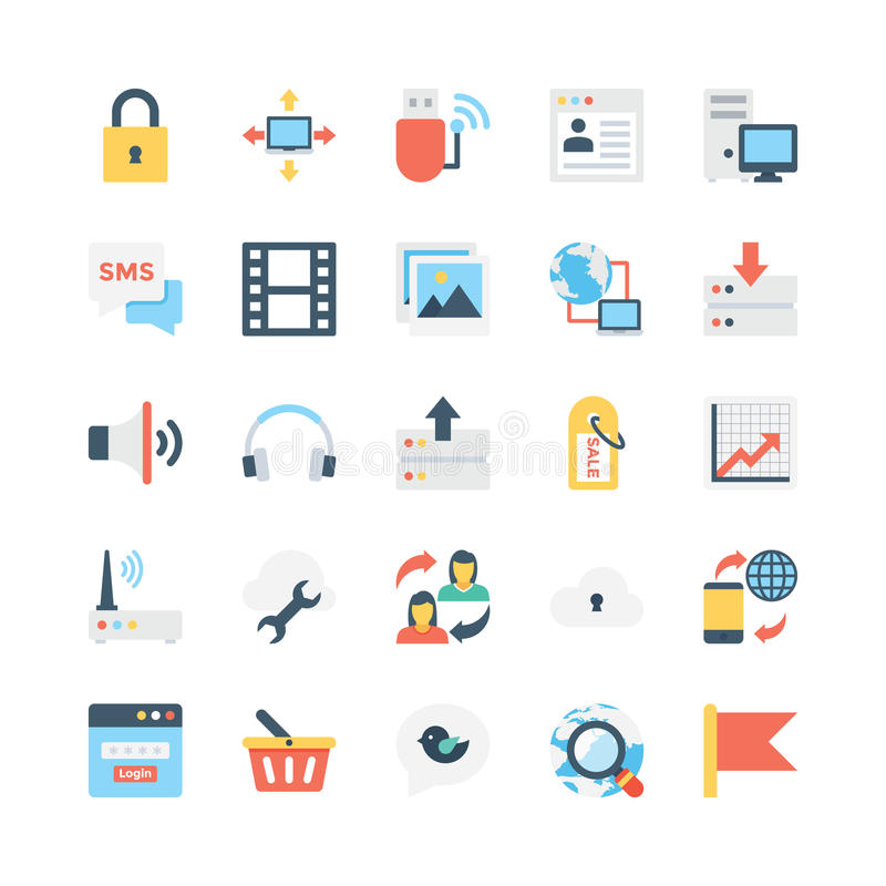 Internet Vector Icons 4 stock illustration