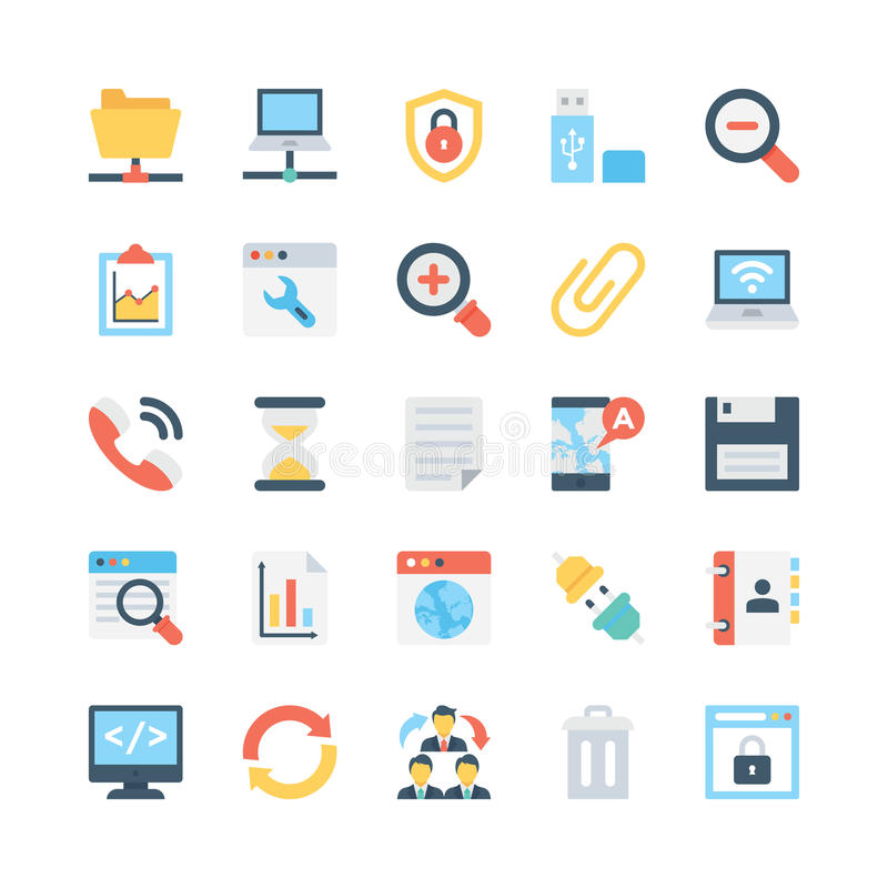Internet Vector Icons 1 royalty free illustration